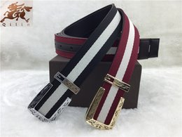 Wholesale G brand new advanced G buckle carved head weaving new color bar bottom nubuck leather belt Ms common men