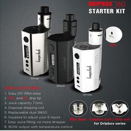 Wholesale 100 Original Kanger Dripbox w Starter Kit TC ML Huge Capacity Disposal Dripping Coil Kangertech W Dripbox Box Mod Dual Battery