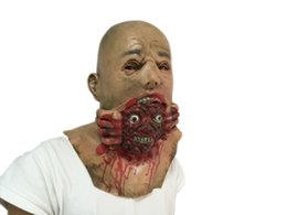 Scary Halloween Ghoul Mask Horror Demons Head Devour Monster Masquerade Face Masks Costume For Parties Free Shipping