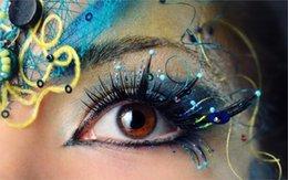 Wholesale 24X36 INCH ART SILK POSTER macro girl eye pupil eyelashes beautiful eye shadow makeup eyebrows Home Decoration Canvas Poster