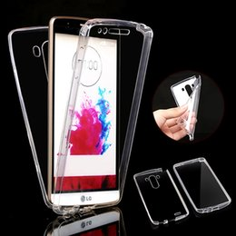 NEW Front + Back Soft Clear TPU Case For LG G3 G4 G5 K4 K7 K10 SLIM Gel Silicone Full Body 360 Degree Protect Covers
