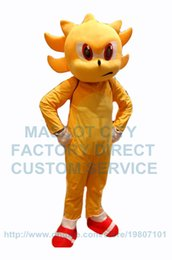 Wholesale Sonic Costume Adults - popular cartoon golden super sonic hedgehog mascot costume adult size hot sale anime cosply costumes carnival fancy dress 2659
