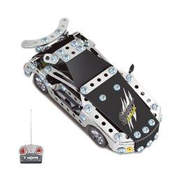 Wholesale 2016 Kids Toys RC Trucks Iron Building Blocks Sets Toys For Gift Items Metal drift Remote Cars Bricks One Piece Li po Batteries