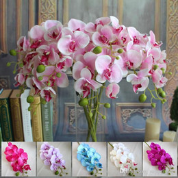 artificial Silk Flowers Small Butterfly Orchid 78cm Artificial Trumpet Phalaenopsis for Wedding party decorations Flower real touch flowers