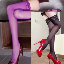 Wholesale Appeal stockings ultrathin hot fix show thin black lace stockings legs high supporting core filar socks