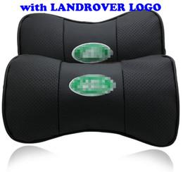 Cojines reposacabezas de cuero en venta-2 X cuero auténtico reposacabezas reposacabezas cuello almohada asiento almohadón cubre para Land Rover coche cuello almohada negro gris beige