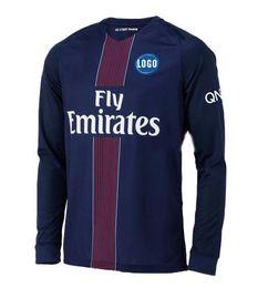 Wholesale Long sleeve man soccer jerseys Paris FC Home jerseys SILVA DI MARIA Thai quality PSG football shirt suit