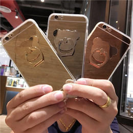 Mirror Design Cell Phone Case Rose Gold Silver Kickstand Phone Covers for iphone 7 7 Plus 6s 57