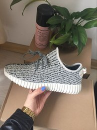 Wholesale Shipping quot Moonrock quot Shoes Boost quot Pirate Black quot Running Shoes Kanye Milan Sports Sneakers Final Version Best Insole