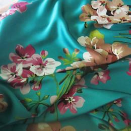 Wholesale 100 cm Soft Bridal Dress Material Crepe Satin Charmeuse Fabric Aquamarine Pink Burgundy