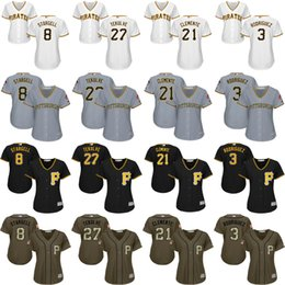 Wholesale women Willie Stargell Kent Tekulve Roberto Clemente Sean Rodriguez Pittsburgh Pirates Baseball Jersey stitched size S XL