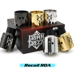 Wholesale Vaporizer Recoil RDA Clone Rebuildable Dripping Atomizers mm Diameter Adjustments Airflow Two interchangeable Top Caps Fits Box Mod DHL