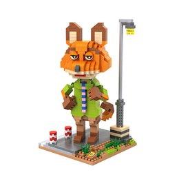 Wholesale LOZ diamond Small blocks Zootopia DIY Building Bricks Nick Wilde Educational D Auction Figure Judy Hopps Kids toys Xmas Gifts