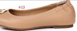 Wholesale Hot sale New Special womens Genuine Leather Flat Ballets shoes