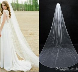 In Stock Simple Bridal Veils Cheap Long Veils Soft Tulle Long Veil Cathedral Veils for Wedding Events Wedding Veil White Ivory CPA077
