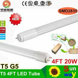 Wholesale 2016 T5 LED tube lights G5 mm FT SMD2835 W lm Super bright T5 led tubes AC V