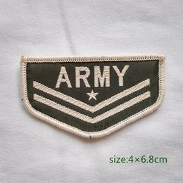 Wholesale USA Military Insignia Army Rank Corporal Sew On Patch Shirt Trousers Vest Coat Skirt Bag Kids Gift Baby Decoration