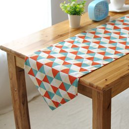 Modern minimalist dining table runner placemats upscale fashion fabric table bed flag bed end towel linen table runner
