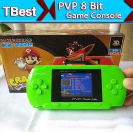 DHL PVP Console de jeu portable 2.5inch LCD station PVP 8 Bit TV Game Player Video + Retail Box + Jeu de cartes gratuit pour les cadeaux pour enfants à partir de enfants jeux vidéo fabricateur