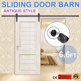 Wholesale 6 FT Sliding Barn Door Hardware FT Modern Stainless Steel Sliding Barn Wood Door Closet Hardware Track Set