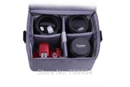 DSLR SLR Padded Cover Camera Case Protect Inner Bag Insert Shoulder Divider Lens Pouch Fit 1 X SLR + 2-3 X Lens