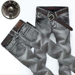 2016 grey designer fashion casual Slim Straight men famous brand skinny jeans low Factory price man Denim pants trousers