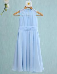 Beautiful Cute Jewel Junior Bridesmaid Dresses Flower Girls' Dresses for Formal Occasion Custom Made Cheap A-Line Tea-length