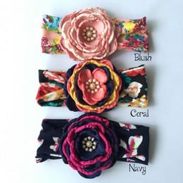 Floral bandeau Baby Headband Matching Satin fleur Flowergirl bandeau Elastic headabnd Newborn Photography Props 9pcs lot QueenBaby