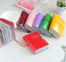 Wholesale 32 Card Position Mini Card Book Credit Name Bank Cash Coupon Business Cards Holder Colors Mini PVC Card Case