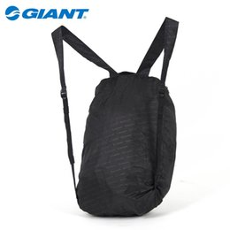 Wholesale icycle Accessories Bicycle Bags Panniers GIANT MTB Mountain Bike Outdoor Sports Foldable Backpack Ultralight Portable Convenient Cycling