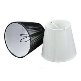 Wholesale cm Modern black white Chandelier lampshade Pull line Fabric wall light lamp shades Clip On