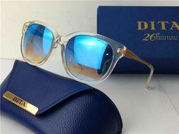 Wholesale Dita sunglasses new dita NOMERO sunglasses women brand designer round shape retro men design coating mirror lens fashion limited edition