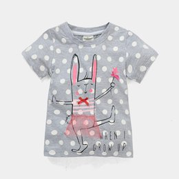 2016 Jumping Beans Children T-Shirts Girls Clothes Summer New Arrival Kids Tee Shirts Outfits 100% Cotton Dot Grey Jumpers