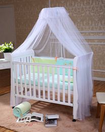 Wholesale Beautiful Baby Bed Canopy Mosquito Net Child Bed Tent Bed Curtains Canopy Baby Toddler Bed Crib Canopy Netting White Pink Yellow