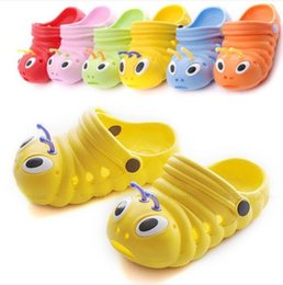 Wholesale Caterpillar Shoes Cartoon - New Fashion Cute Sandals Summer Children baby boys girls slippers caterpillar animal cartoon style EVA child Shoes slipper free EMS