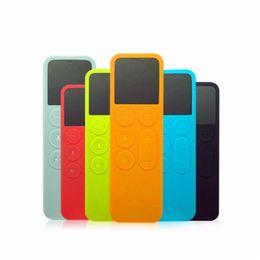 Couverture en gros-Brand New 120x38x7mm Colorful génation à distance silicone peau cas Controller Protector Pour Apple TV 4ème cas de contrôle à distance à partir de silicone couvre pour les télécommandes fabricateur