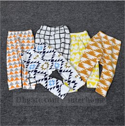 Wholesale Baby INS PP Pants Baby Animal Fox Tights Figure Lemon Haroun Pants Wheels Geometric Cropped Trousers Tent Fruit Leggings Color B1112