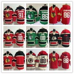 Wholesale Men s NHL Ice hockey jersey Fleece Hoodie Chicago Blackhawks TERAVAINEN KANE RICHARDS The traditional embroidery