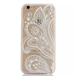 Hard Floral Cover Case for iPhone 6 6s Custom Clear Transparent Capa Covers DHL Free Shipping