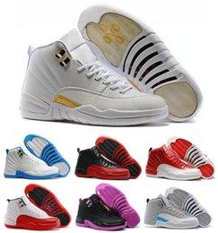 Wholesale Cheap Retro Basketball Shoes Sneakers Men Women Retros s XII Playoffs Replicas Gamma Blue Grey Sports Shoes