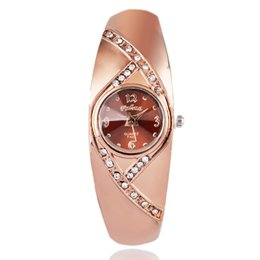 A9 Newest New hot sell Fashion women quartz watches rose gold ladies Bangle Watch popular designer rhinestone watch relogio feminino