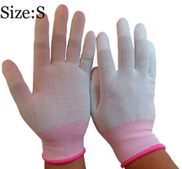 Small Size PU Finger Coating Glove For Women Protecting Safety Glove Anti-Static Working Gloves For Ladies