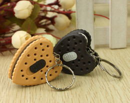 Wholesale whilesale Night market supply Yiwu Small Commodity pendant square smiley keychain with light biscuit stall Cheap cartoon