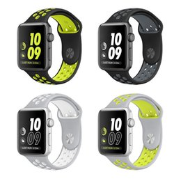 Wholesale Silicone Replacement Sports Bands for Apple Watch iwatch Wristwatch Strap Band