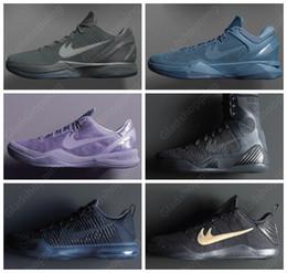 Wholesale Kobe EIite FTB Fade to Black Collection Kobe Bryant Black Mamba Pack Kobes Men Basketball Shoes Sneakers