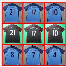 Wholesale Best thailand quality manchesteers soccer Shirts city de bruyne sterling silva Soccer shirts MCN3