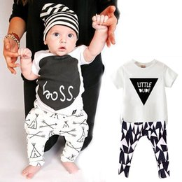 Wholesale Baby Boys Clothes Summer INS Kids Sets Pant T shirt Children Clothing Kid Suit Cotton arrow picture Boys set
