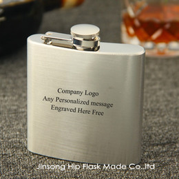 Customizable logo or Personalised ENGRAVED hip flask 6OZ,Company logo , party personalized gift
