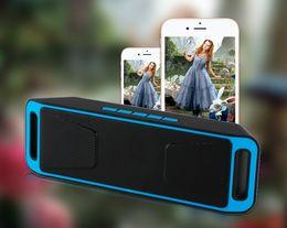 2017 boîte de haut-parleur de radio Haut-parleur sans fil portable Bluetooth 4.0 Caisson De Som Haut-parleurs stéréo Subwoofer TF USB Radio FM Micro intégré Micro budget boîte de haut-parleur de radio