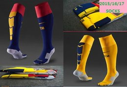 Wholesale 2015 Barcelona home and away kids soccer thick socks adult and children s socks socks default child at home